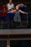Dziewczyna basenu Nurkowi mistrzostwa Zdjęcia Royalty Free