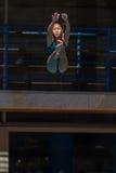 Dziewczyna basenu Nurkowi mistrzostwa Fotografia Royalty Free