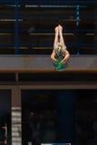 Dziewczyna basenu Nurkowi mistrzostwa Zdjęcie Stock