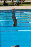 Dziewczyna basenu Nurkowi mistrzostwa Zdjęcie Royalty Free
