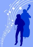 dziewczyna basowy śpiew Obraz Stock