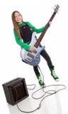 dziewczyna basowy gracz Obrazy Stock