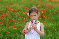 dziewczyna bawić się pisaka Obrazy Royalty Free