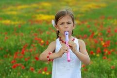 dziewczyna bawić się pisaka Zdjęcie Royalty Free