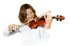 dziewczyna bawić się skrzypce Obrazy Royalty Free