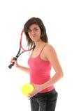 dziewczyna bawić się tenisa Obrazy Royalty Free