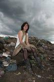 dziewczyna bezdomny fotografia royalty free