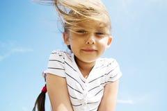 dziewczyna bieżący włosy Obraz Stock