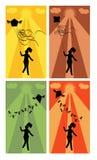 dziewczyna bieg ilustracji