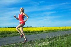 dziewczyna bieg Zdjęcia Royalty Free