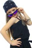 dziewczyna biel odosobniony mały Zdjęcie Stock