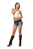 dziewczyna biel seksowny odgórny Fotografia Stock