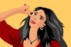 Dziewczyna Bierze Selfies ilustracji