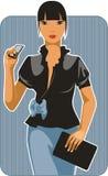 dziewczyna biznesowy kostium Zdjęcie Royalty Free