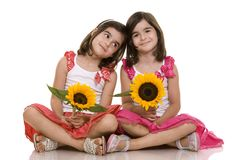 dziewczyna bliźniacy Obraz Royalty Free