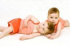 dziewczyna bliźniak Fotografia Royalty Free
