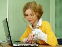 dziewczyna blond biznesowy portret obraz stock