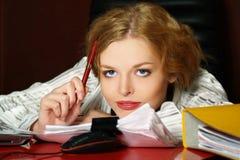 dziewczyna blond biznesowy portret zdjęcia royalty free