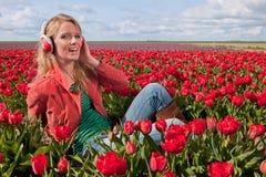 dziewczyna blond holenderscy hełmofony fotografia royalty free