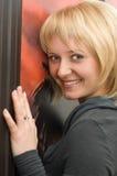 dziewczyna blond uśmiechy Zdjęcia Royalty Free