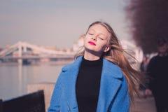 dziewczyna blondy Obrazy Royalty Free