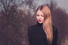 dziewczyna blondy Obraz Royalty Free