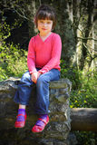 dziewczyna buty mali różowi Zdjęcie Royalty Free