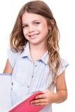 Dziewczyna chwyta książkę Obrazy Royalty Free