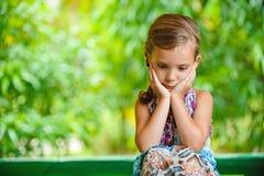 Dziewczyna chybienie na mum Fotografia Stock