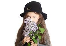 dziewczyna czarny kapelusz Obraz Stock