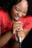 dziewczyna czarny śpiew Obrazy Stock