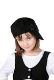 dziewczyna czarny ubraniowy śliczny biel zdjęcia royalty free