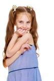 Dziewczyna dłudzy ogony na głowie obraz stock