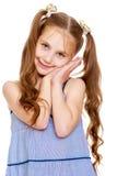 Dziewczyna dłudzy ogony na głowie zdjęcia stock