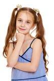 Dziewczyna dłudzy ogony na głowie zdjęcia royalty free