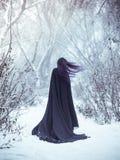 Dziewczyna demon chodzi samotnie Obraz Stock