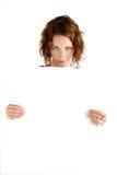 dziewczyna deskowy znak zdjęcia royalty free
