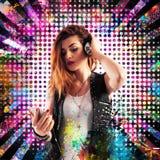 Dziewczyna DJ Zdjęcia Stock