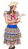 Dziewczyna dla Czerwa festiwalu Zdjęcie Royalty Free