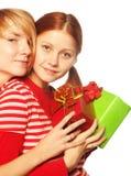 Dziewczyna dwa przyjaciela. Zdjęcia Stock