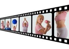 dziewczyna fizycznej fitness Obraz Royalty Free