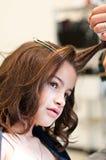 Dziewczyna fryzjer Obrazy Stock