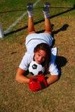 dziewczyna futbolu obrazy stock