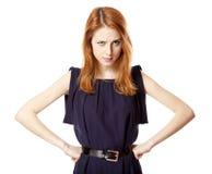 dziewczyna gniewny piękny portret zdjęcia royalty free