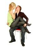 dziewczyna go ładnie s zasiadają kolana Obraz Stock