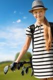 dziewczyna golfa gra Fotografia Stock