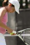 dziewczyna gra w tenisa Zdjęcia Royalty Free