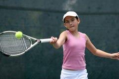 dziewczyna gra w tenisa Obraz Stock