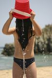 dziewczyna gra wody zdjęcia stock