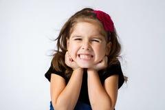 Dziewczyna Gritting zęby zdjęcia royalty free
